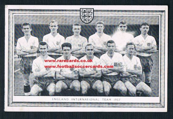 1957 England 3 Lions Christmas card WC58